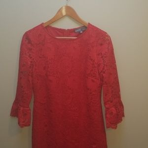 Donna Ricco red lace dress with beautiful details
